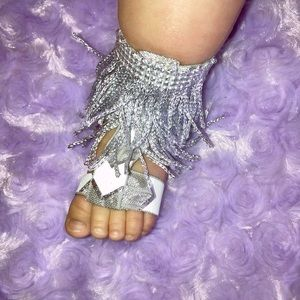 Other - Double fringe barefoot sandals